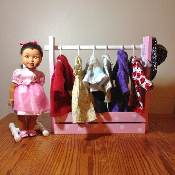 how to make 18 inch doll closet