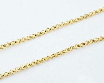 "18K Gold Filled Chain 17.75"" Inch CG122"
