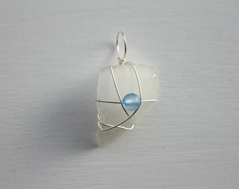 Wire Wrapped Seaglass Pendant