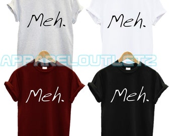 meh t shirt fed up dont caremagic funny nap morning fantasy person quote tumblr fashion swag dope famous unisex