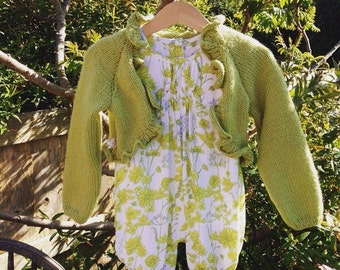 Knitted bolero shrug with vintage romper