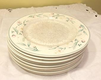 9 Pfaltzgraff April Dinner Plates.