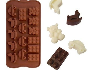 Baby Toys Silicone DIY Mold to make Soap Candle Chocolate Candy Tray Mold ICE Party maker  mould