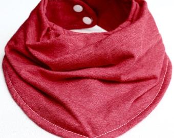 Baby Bandana Bib Cranberry Red