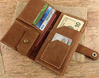 Leather Men's leather travel Wallet, Mens wallet, Passport Wallet, Leather Passport Wallet, Travel Wallet, Mens Wallet, Travel Accessories