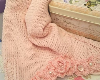 canotta in cotone rosa romantica
