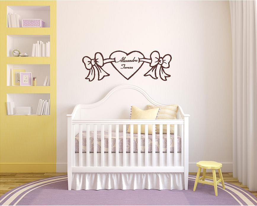 Baby Wall Decor personalized girl's name nursery quotes, nursery wall decor, baby
