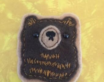Felt Bear Brooch