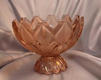 Czech Leaded Glass Fruit Bowl with Pedistal