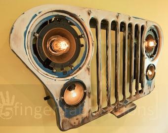 Jeep Grill Light Edison Bulb Decor