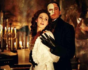 Phantom of the Opera Mask, Studded Chain Masquerade Mask, Half Mask, Masquerade ball Mask, Phantom Mask, Venetian Mask,