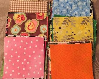 "100 - 3 1/4"" Pre-Cut Assorted Fabric Squares"