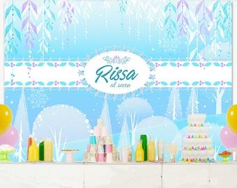 PRINTABLE Custom Frozen Theme Backdrop