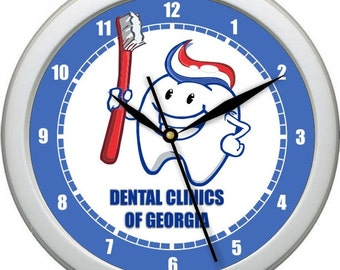 "Dentist Office 10"" Personalized Wall Clock"