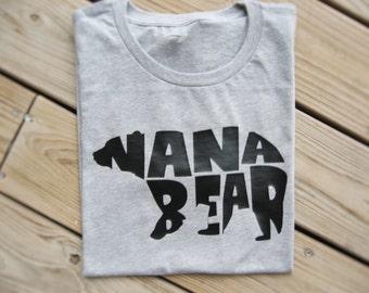 Nana Bear Shirt, Grandma Bear Shirt, Grandma Shirt, Nana Shirt, Mimi Shirt, Grandma Gift, New Grandma Gift, New Nana, Christmas Gift Nana