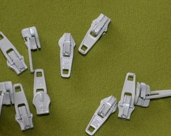 pack of 10 no 3 cream   open end zip sliders