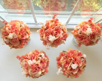Wedding Bouquets/Centerpieces Coral
