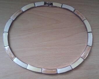 enamelled choker/necklace