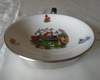 vintage stay warm children's dish
