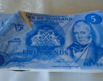 Bank of Scotland  five pound money box