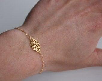 Gold Plated Charm Bracelet on 14k Gold Filled Chain
