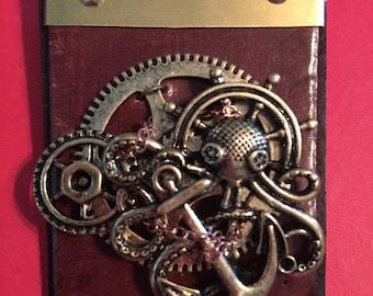 Steampunk Military Medal Kracken Badge