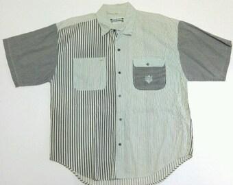Vintage Sergio Valente Striped Button Shirt XL