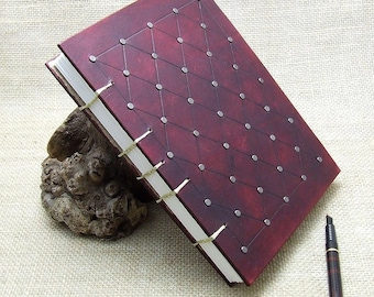 Handmade Leather Journal Diary Notebook Medieval Maroon A5