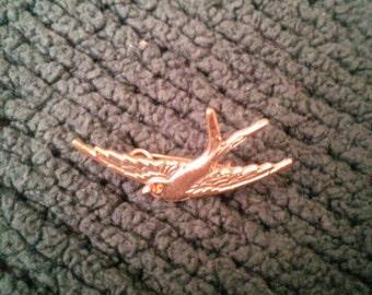 Antique swallow brooch