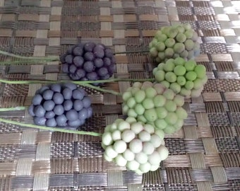 Gum Paste Blackberries  Set of 6 You Choose the Colours
