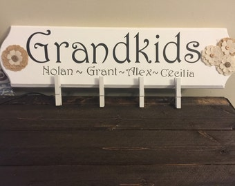 Personalized Grandparents/Family Photo Display