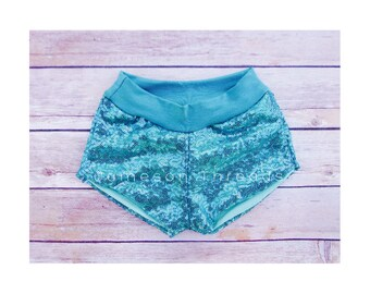 Teal Glamour Shorties