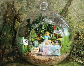 Ellis Wonderland House, Terrarium DIY Kit Set, Round Glass Ball Sphere , Hanging Decoration Home Decor