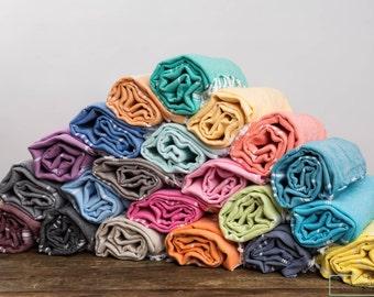 USA Seller-Eco Friendly Turkish Towel Classic Style Bath Towel Set Of 13 |Beach Towel Set,Turkey Towel Set,FREE SHIPPING,Pool Towel Set