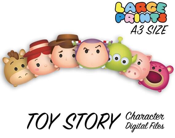Disney Tsum Tsum Para Colorear Buzz Lightyear: Toy Story Tsum Tsum Character Digital Large Print Files