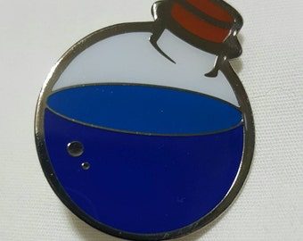 Mana Potion Lapel Pin - Gamer Inspired Clothing Accessory