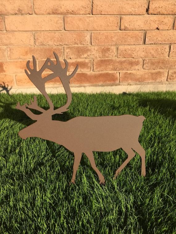 Reindeer metal yard art christmas lawn decor outdoor
