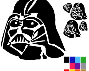 Darth Vader Decal x 4. Star Wars Decal Stickers. Self Adhesive Darth Vader Decals. Ships Worldwide. FREE UK SHIPPING.