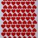 91 1 inch Removable Vinyl Heart Stickers. Vinyl Wall Decals. Red Stickers. Heart Wall Decals. Heart Decals. Wall Art. Craft Supplies.