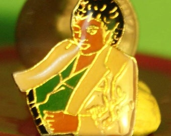 vintage Michael Jackson hat pin and back  -- 159