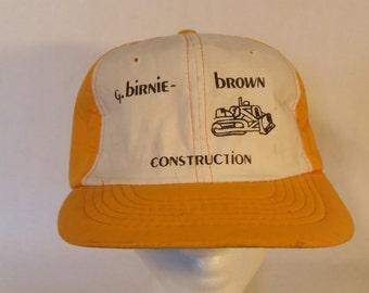 G.birnie brown construction Vintage hat.