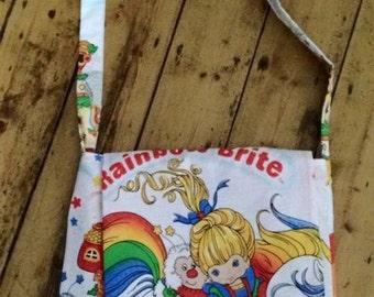 Retro Rainbow Brite messenger bag