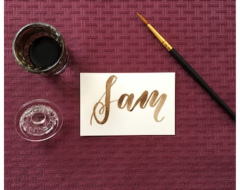 Name Place Cards - Brush Calligraphy
