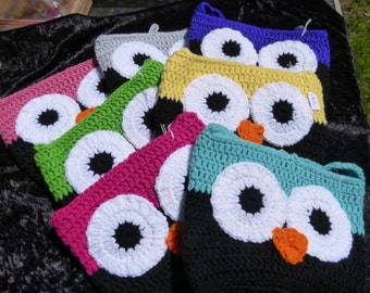 Owl Bag - crochet Large size
