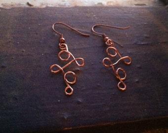 Handmade Loopy Wire Earrings