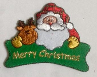 Christmas motif iron or sew on