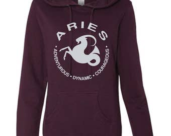 ARIES - What's Your Sign Blackberry Hoodie, purple hoodie, zodiac hoodie, sign hoodie, zodiac sweatshirt, aries hoodie, aries sweatshirt