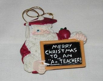 A+ Teacher Christmas Tree Ornament