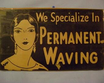 Cardboard Permanent Waving Sign