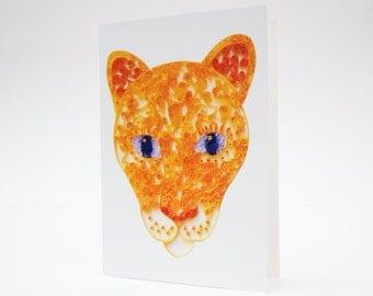 Lioness Card, Wildlife Card, Jungle Notecard, Lion Card, Lioness Notecard, Cat Greeting Card